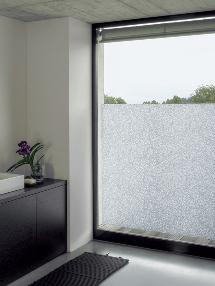 *Exec Office Part Window* Gecko window glazing provides privacy in this residential bathroom.