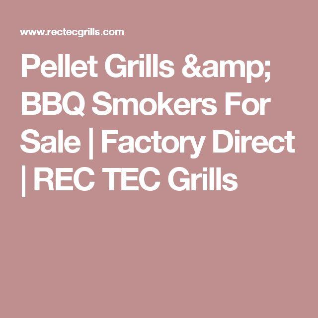 Pellet Grills & BBQ Smokers For Sale | Factory Direct | REC TEC Grills