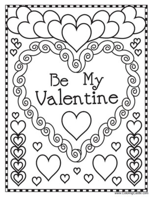 Vintage Kids Valentine Coloring Pages 92  Valentine us Day