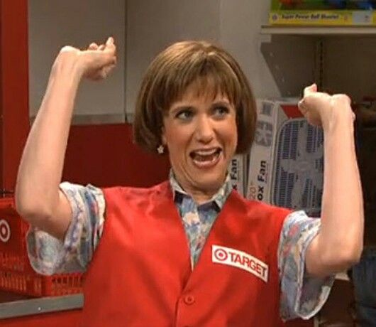 kristen wiig as target lady, ha!