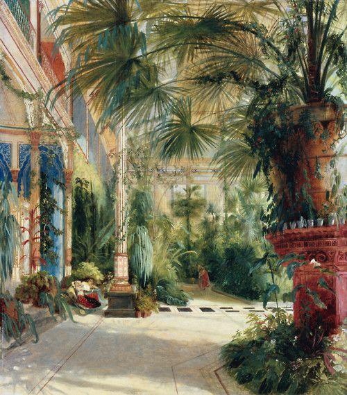 Carl Blechen: das Palmenhaus auf der Pfaueninsel,Aquarell von 1832                                                                                                                                                                                 Mehr