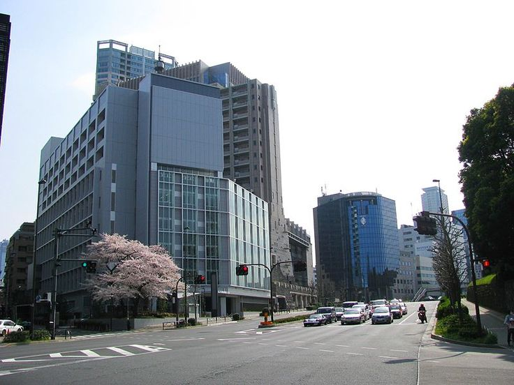 Japan National Route 246. This located is Akasaka in Minato, Tokyo, Japan.