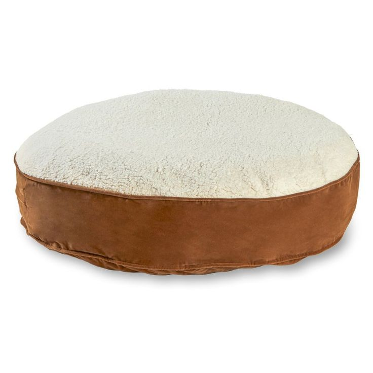Scout Deluxe Round Dog Bed Latte/Sherpa - 10250L-LATTE