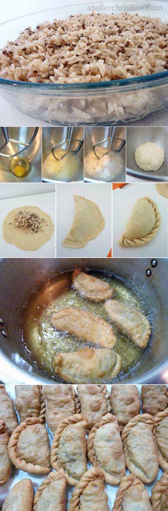 Deep Fried Savory Hand Pies {Sambousek Ouzi}, middle eastern food http://jensplaice.EatLessFeelFull.com