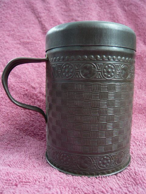 Stamped Tin Sugar Shaker 1800s by jiminyvintage on Etsy
