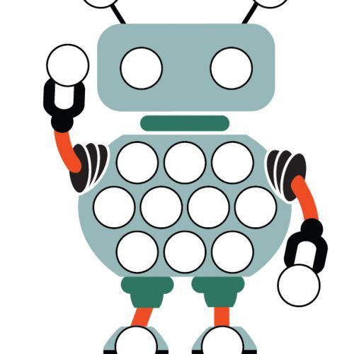 compléter le robot avec des gommettes
