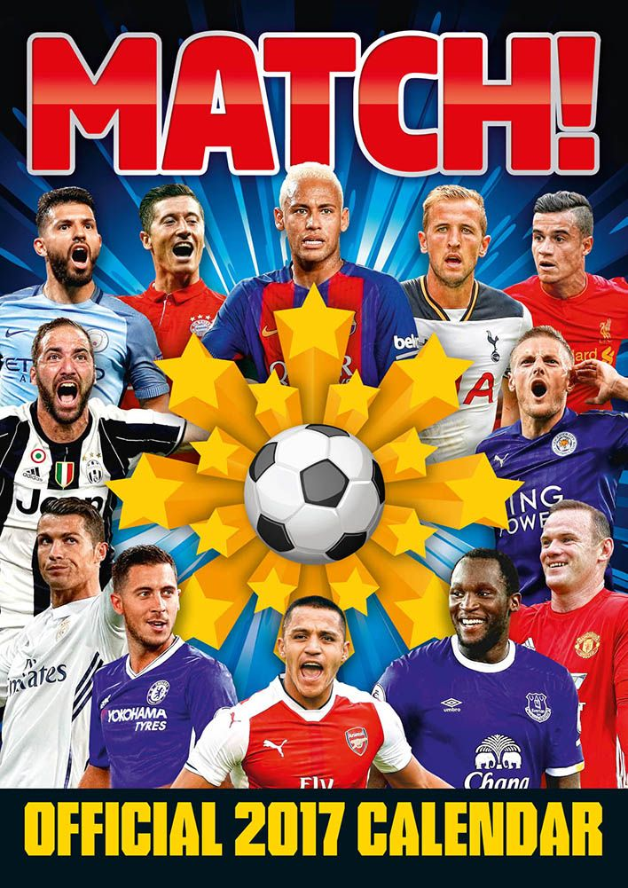 Official Match Football 2017 Calendar now available for only £8.99 and Free UK Delivery (Worldwide Delivery also available) at http://bit.ly/FootballCals2017