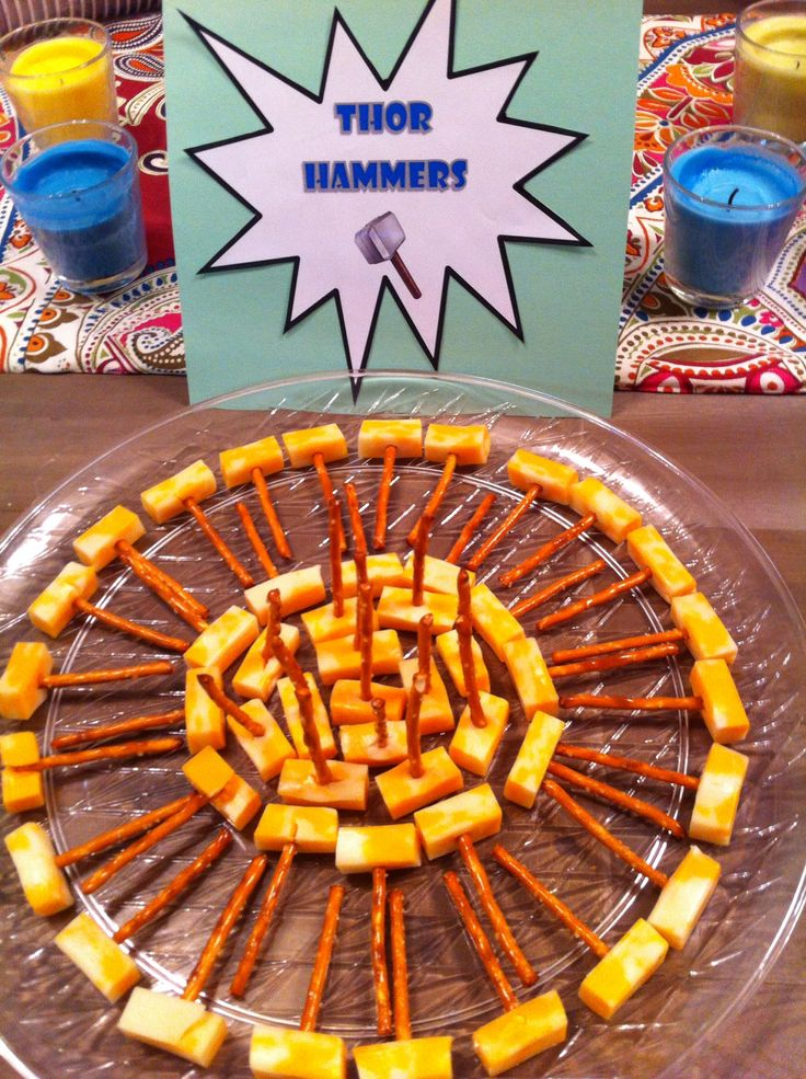 Thor Hammer cheese and pretzel snacks