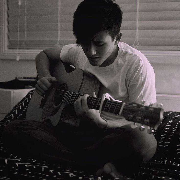 Chris and his guitar