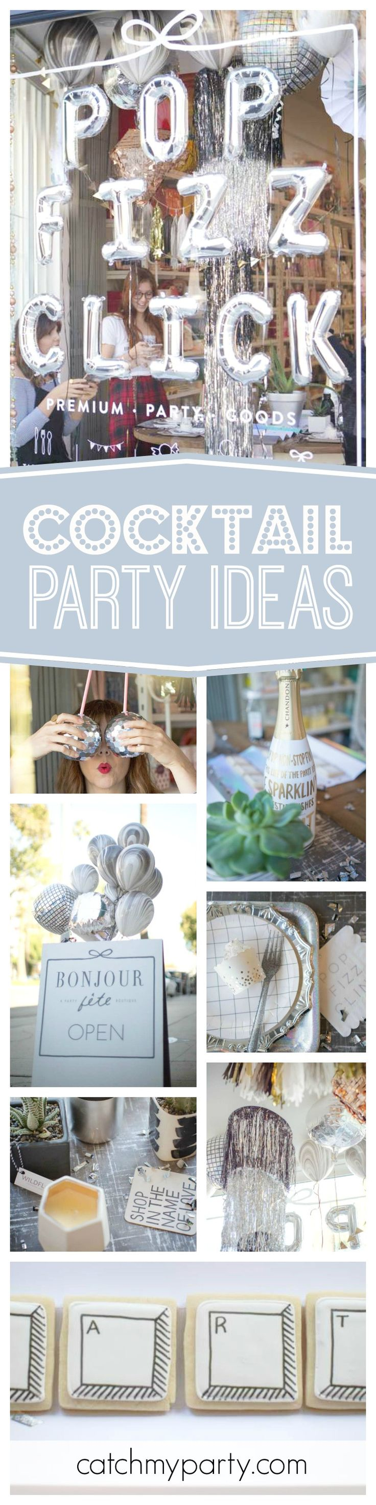 Check out this fabulous Cyber Monday Cocktail party! Love the decorations!! See more party ideas and share yours at CatchMyParty.com