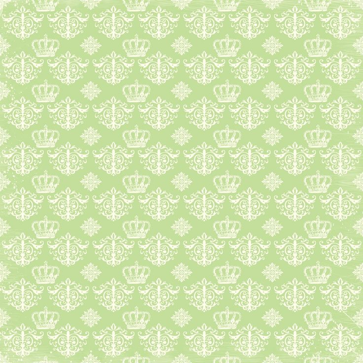 Free Digital Scrapbook Paper Green Damask Regency