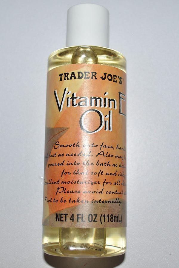 Vitamin E is one of the most versatile products you can have in your arsenal. I like to add a few drops to my bath water or body lotion when I'm in need of a little extra moisture. Plus, vitamin E helps speed healing so it's great for diminishing scars. $4.