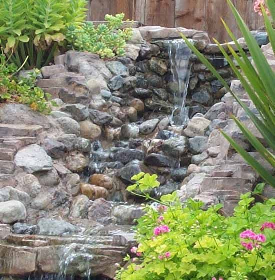 35 best images about waterfall on pinterest backyard for Ornamental pond waterfall