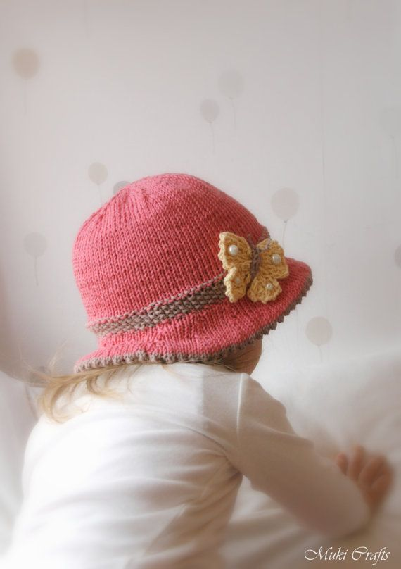 Knitting Pattern Brim Sun Hat Mary With A Butterfly Baby