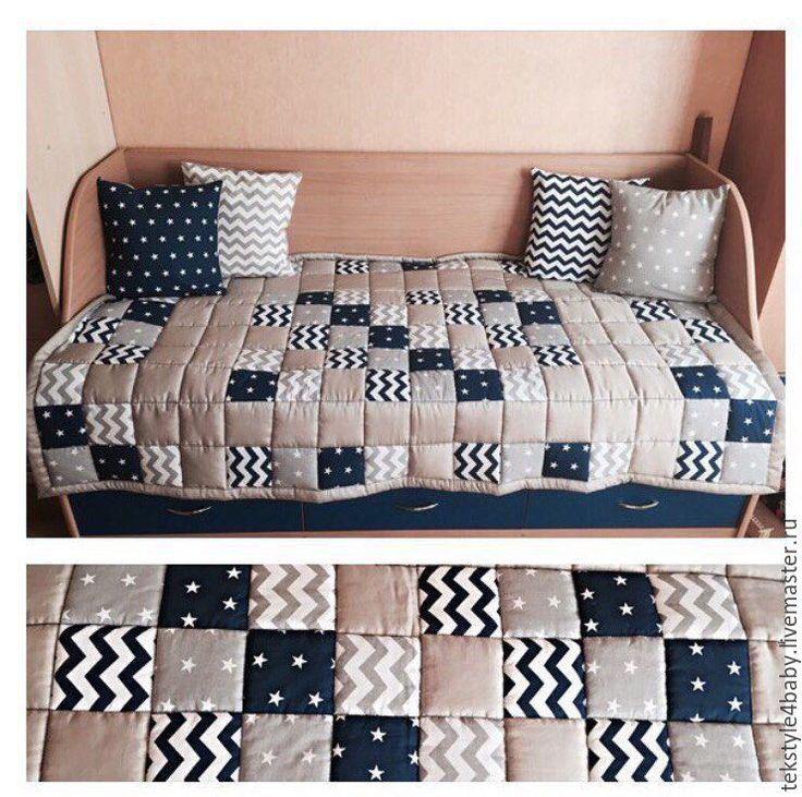 """Купить Покрывало """"Звездное"""" - лоскутное одеяло, лоскутное покрывало, покрывало пэчворк, покрывало на кровать"""