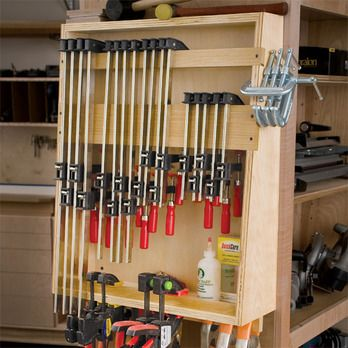 Small Clamp Corral Woodworking Plan by Woodcraft Magazine