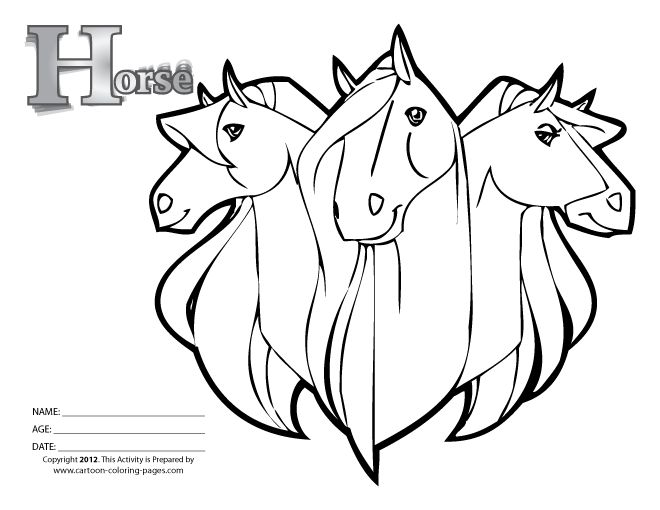 Horses Western Colour Colouring Pages Page 2 Horse