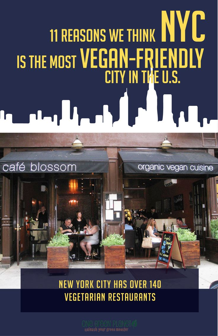 We're fans of our base city, and now, The Big Apple has been crowned as the most Vegan-Friendly City in the US by PETA. #vegandining #vegetarian #nycrestaurants