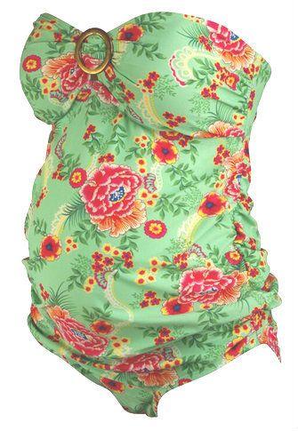 Floral Oh Baby! Maternity Tankini Swimsuit (Like New - Size Medium) - Motherhood Closet - Maternity Consignment