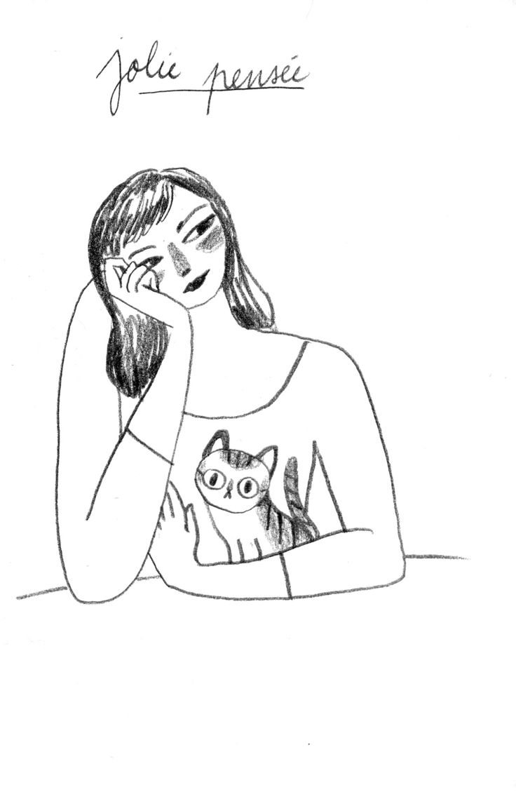 Sometimes all you need is yourself and a kitty.