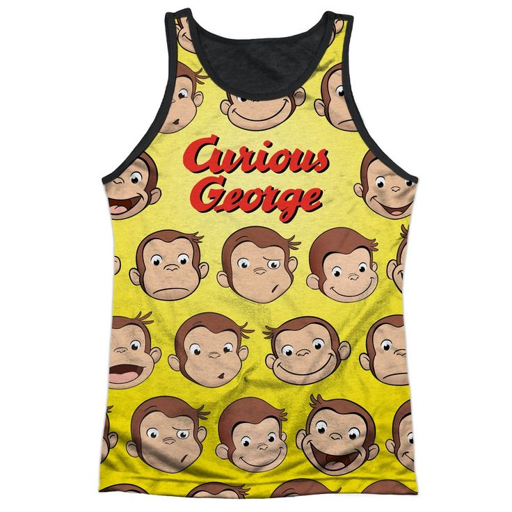 """Checkout our #LicensedGear products FREE SHIPPING + 10% OFF Coupon Code """"Official"""" Curious George/curious Faces-adult Poly Tank Top T- Shirt - Curious George/curious Faces-adult Poly Tank Top T- Shirt - Price: $24.99. Buy now at https://officiallylicensedgear.com/curious-george-curious-faces-adult-poly-tank-top-shirt-licensed"""
