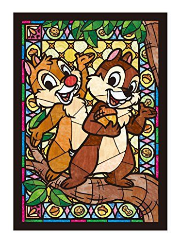 Jigsaw Chip & Dale stained glass 266 piece