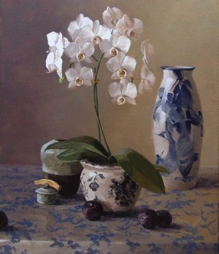 In Full Bloom by Laurie Kersey Oil ~ 30 x 24