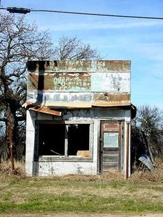 Old store in Desdemona, Texas
