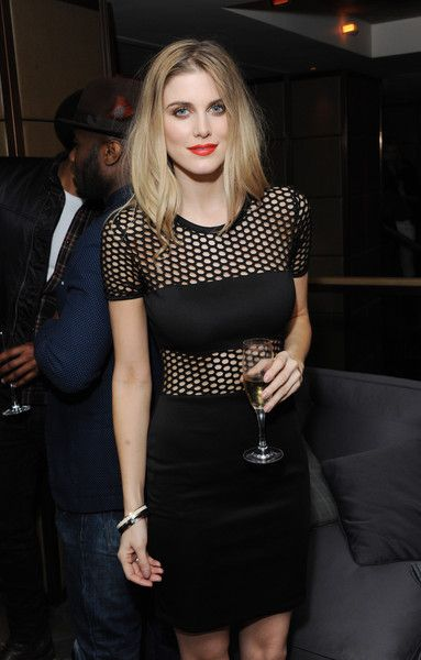 Ashley James Lookbook: Ashley James wearing Little Black Dress (4 of 4). Ashley James was edgy-sexy at the PRIV launch in a tight-fitting LBD with a mesh yoke and midsection.