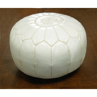 Hmm, Moroccan Pouffe in off~white as well.