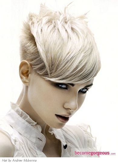 Pictures : Short Hairstyles - Short Cutting Edge Hair Style