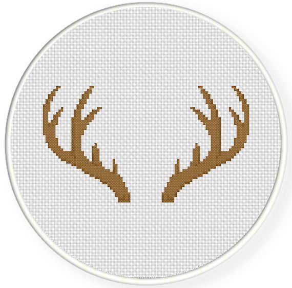 FREE Antler Cross Stitch Pattern
