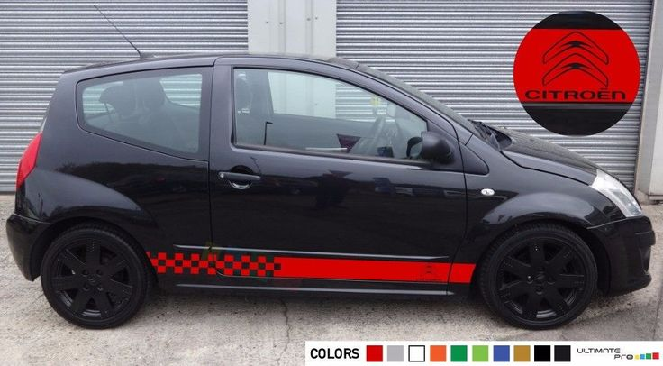 Sticker Decal for CITROEN C2 Light tune VTS VTR KIT SKIRTS clear carbon springs #ultimateprocy1