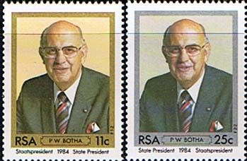 South Africa 1984 Inauguration of President Botha Set Fine Mint                    SG 570 1 Scott 646 7          Condition Fine MNH    Only one post