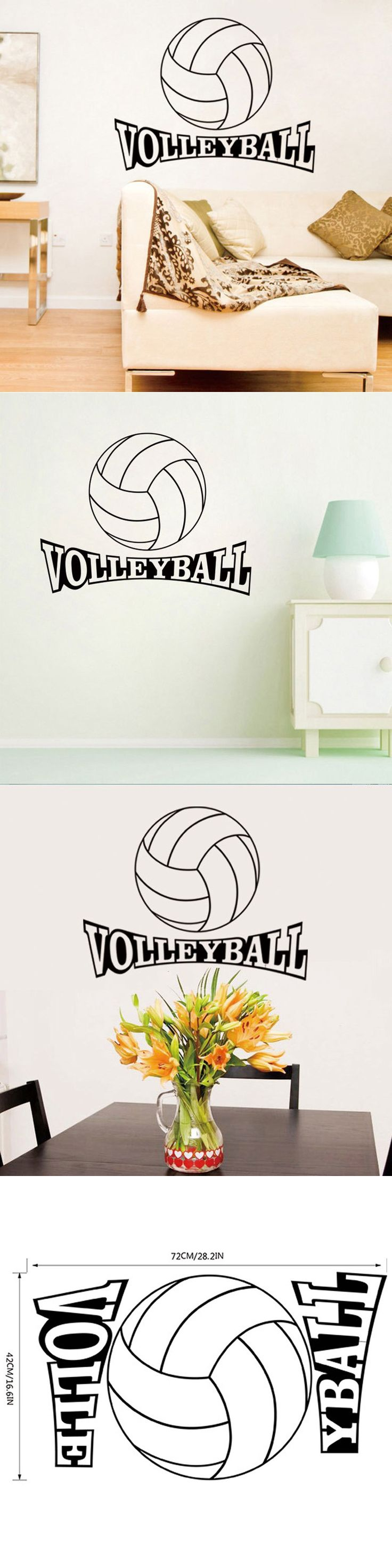 68 best decals images on pinterest vinyl decals wall stickers 2016 newest sport volleyball home decor creative wall stickers parede removable decorative home decals adesivo wallpapers