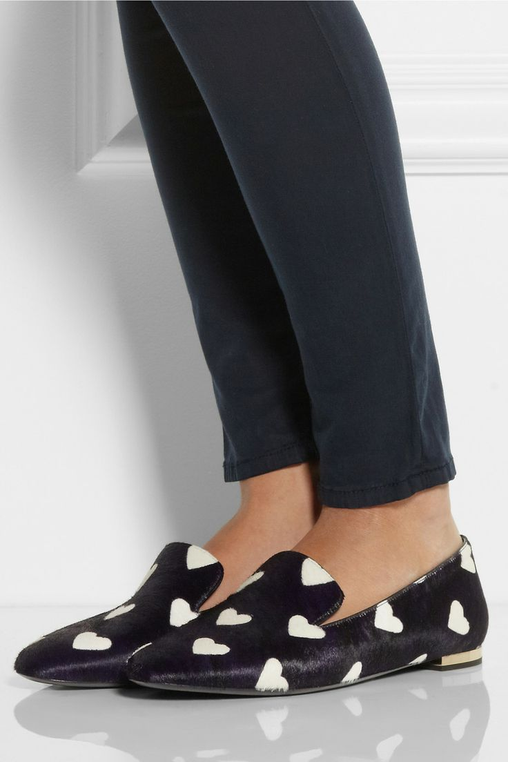 in love with these heart loafers