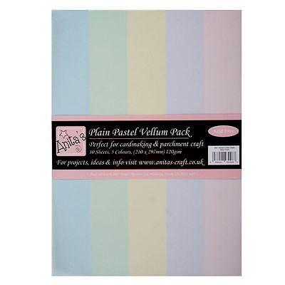 Anita's Plain Pastel Vellum Pack A4 10 Sheets
