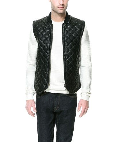 QUILTED WAISTCOAT from Zara
