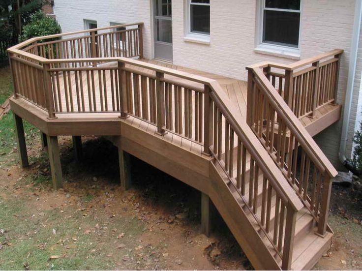 The Right Steps On Building Deck Stair Railing With Unique Shape Part 77