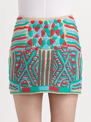 folky skirt: Colors Combos, Embroidered Minis, Minis Skirts, Folki Skirts, Dreams Closet, Embroidery Skirts, Girls Clothing, Textiles Skirts, Embroidered Skirts