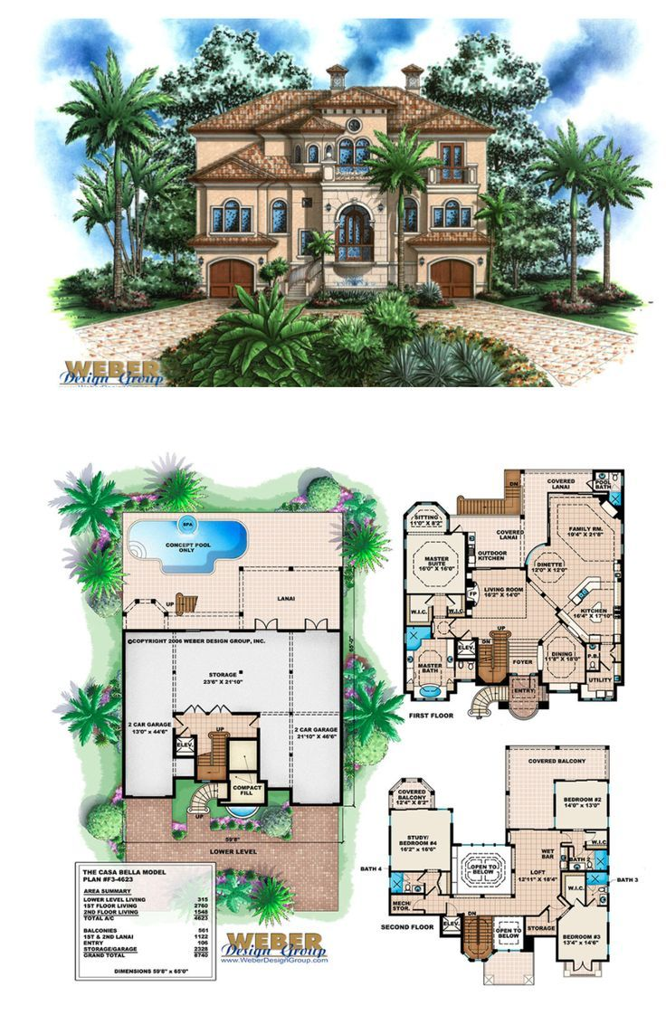 Beach House Plan Coastal Mediterranean Style Home Floor Plan Beach House Plans Mediterranean Style House Plans Beach House Plan