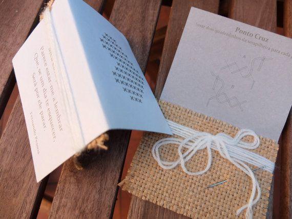 50 Lembranças de casamento  kits de ponto cruz by agulhanaopica