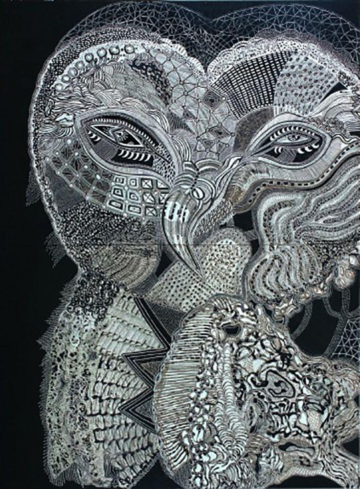 """Owl of the Appletree Moon"" par Joshua Yeldham"