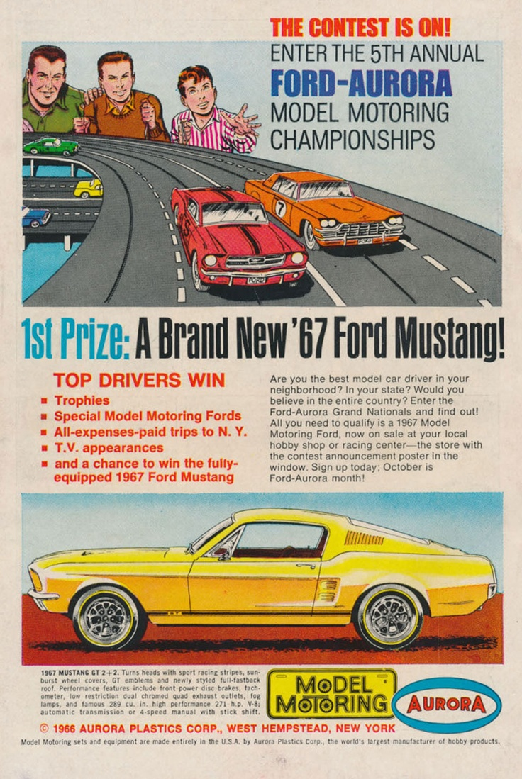 1st Prize: A Brand New '67 Ford Mustang