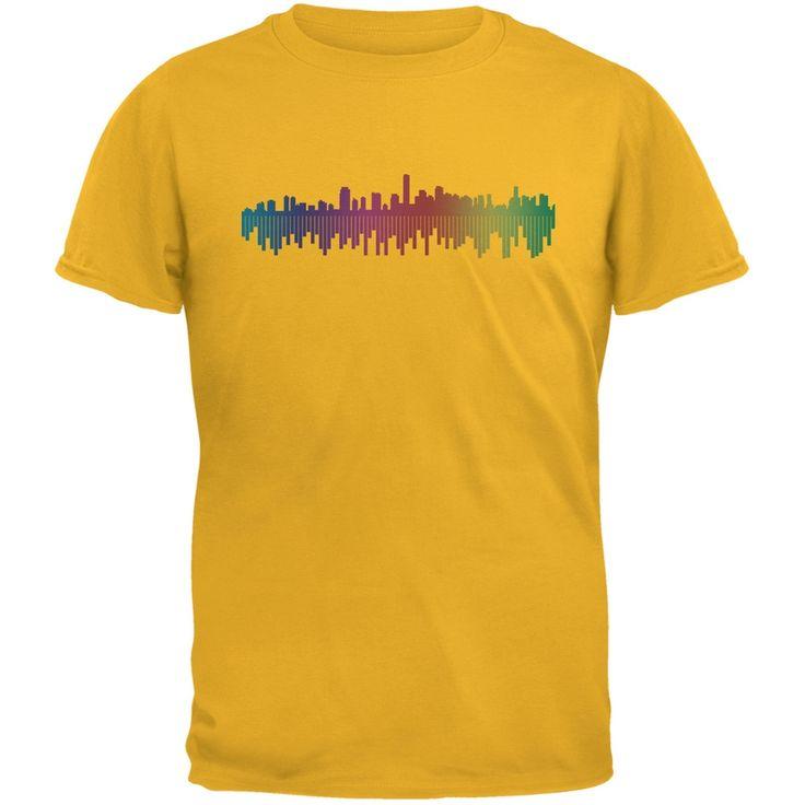 City Levels Yellow Adult T-Shirt