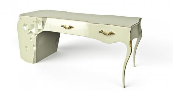 Masuta de toaleta Lotus: Architects, Sewing Tables, Tables Design, Design Ideas, Interiors, Lotus Desks, Undasleepless Design, Furniture Design, Crafts