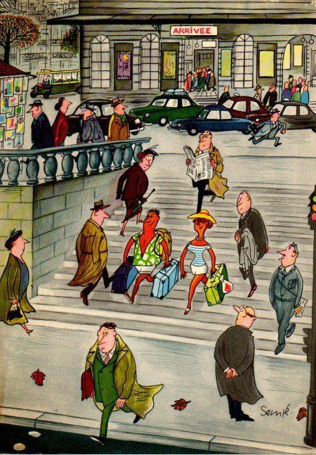 """""""Comment on s'enrhume... en 12 images"""" 1957, Jean-Jacques Sempé - Septembre"""