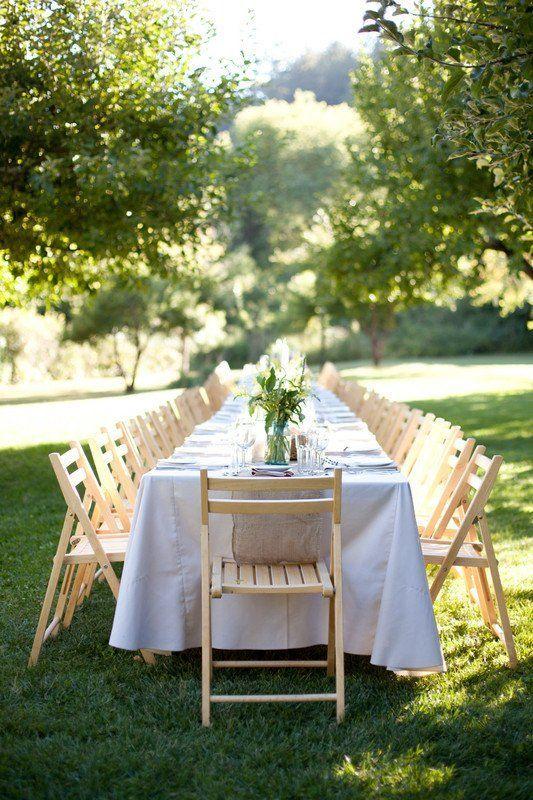 Simple, outdoor wedding reception tables {Megan Clouse ...
