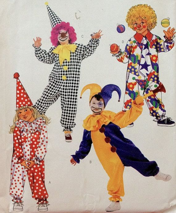 halloween+sewing+patterns | JESTER & CLOWN Halloween Costume Sewing Pattern ~ Clowns Jesters Hat