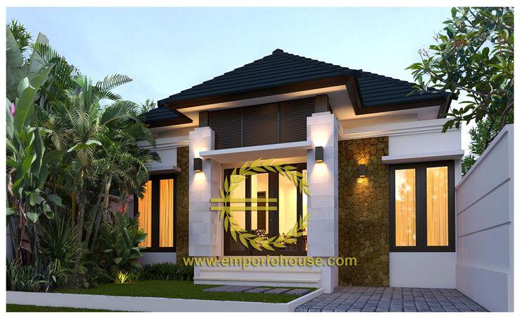 Desain Rumah 1 Lantai 3 kamar Lebar Tanah 9 meter dengan ukuran Tanah 1 are/100m2